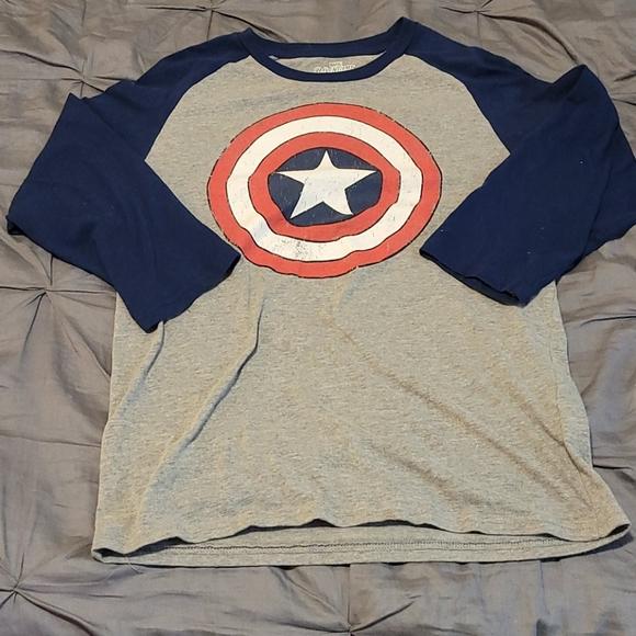 Captain America baseball tee